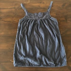 Old Navy Grey Scalloped Tank